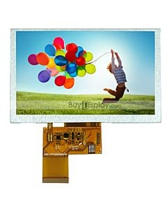 5 inch WVGA 800x480 Dots TFT LCD Display Module used for MP4,GPS