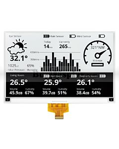 7.5 inch ePaper 880x528 e-Ink Display Panel White Black