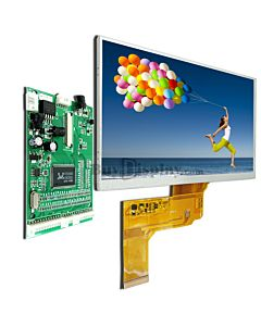 7 TFT LCD Display Module in 800x480,wVGA,Video,AV Driver Board
