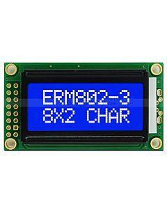 802 Display 8x2 Blue Character LCD Module,White LED Backlight
