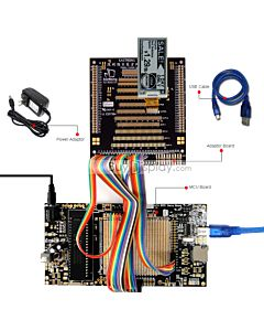 8051 Microcontroller Development Board for E-Paper ER-EPD0213-2
