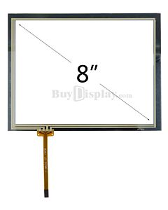 8 inch 4-wire resistive touch panel is used on 8 inch tft lcd 800x600 Dots display