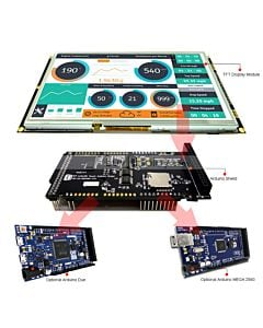 9 inch Arduino Touch Screen Shield SSD1963,Library for Mega Due