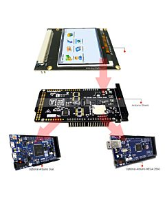 Arduino 2.3 inch TFT LCD Touch Shield ILI9342,Library for Mega Due