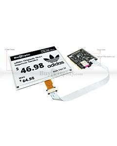 Black 5.83 inch e-Paper Display Arduino Shield,Library 648x480