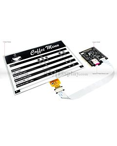 Black 7.5 inch e-Paper Display Arduino Shield,Library 640x384