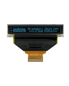 Blue 1.8 inch 256x32 OLED Display Module wSerial I2C and SSD1326