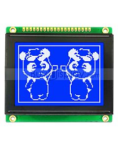 Blue 128x64 SPI Graphic LCD Display Module,Built-in Character ROM