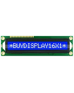 Blue Character Display 16x1 LCD Module