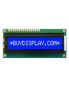 Blue Display 16x1 Character LCD Module,Single LIne,White Backlight
