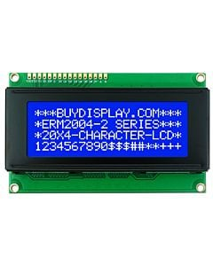 Blue Character Display 20x4 LCD Module,Arduino,White LED Backlight