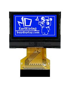 Blue Serial SPI Small 0.96 inch 128x64 Graphic COG LCD Display Module