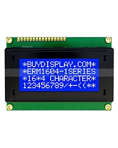 Character 16x4 LCD Arduino Display Module,Commands,White on Blue