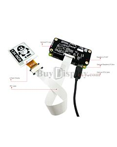 Connect Black 1.54 inch e-Paper 200x200 Display Panel to Raspberry Pi Hat