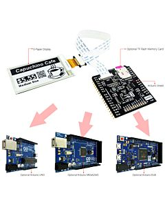 Connect Black 2.6 inch e-Paper Display Panel to Arduino
