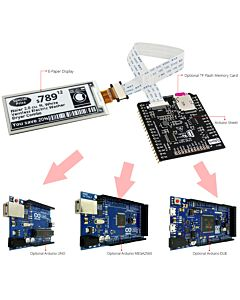 Connect Black 2.9 inch e-Paper Display to Arduino