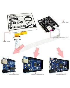 Connect Black 4.2 inch e-Paper Display to Arduin