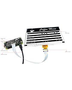 Black 7.5 inch e-Ink Display Raspberry Pi HAT,e-Paper 640x384