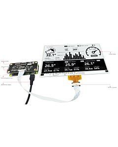 Connect Black 7.5 inch 880x528 e-Paper Display Panel to Raspberry Pi Zero
