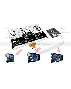 Connect Black 7.5 inch 880x528 e-Paper Display to Arduino