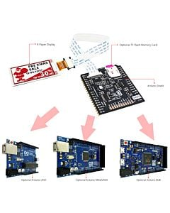Connect Red 2.13 inch e-Paper Display to Arduino
