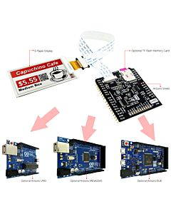 Connect Red 2.6 inch e-Paper Display Panel to Arduino