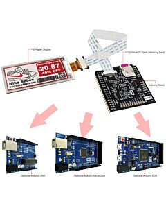 Connect Red 2.9 inch e-Paper Display Panel to Arduino
