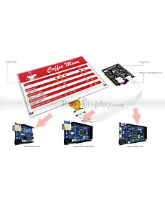 Connect Red 7.5 inch 640x384 e-Paper Display Panel to Arduino