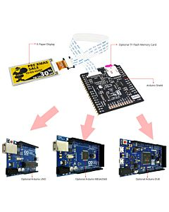 Connect Yellow 2.13 inch e-Paper Display to Arduino