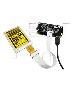 Sunlight Readable Serial SPI 2.9 inch Color E-Ink Display Module 128x296