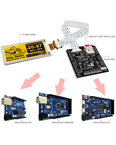Connect Yellow 2.9 inch e-Paper Display to Arduino Uno Due Mega