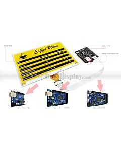 Connect Yellow 7.5 inch 640x384 e-Paper Display Panel to Arduino