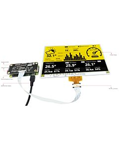 Connect Yellow 7.5 inch 880x528 e-Paper Display Panel to Raspberry Pi Zero
