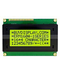 Dispaly 16x4 LCD Module Character,HD44780,Datasheet PDF,Black on YG