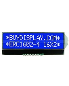 Display Serial 16x2 COG LCD Module,Pin Connection,White on Blue