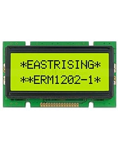 Display Character 12x2 LCD Module,Datasheet,HD44780,Black on YG