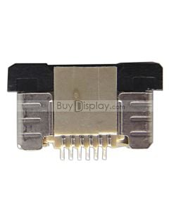 6 Pin 0.5mm Pitch Top Contact  ZIF Connector,FPC Connector