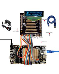 ER-DBO028-1_MCU 8051 Microcontroller Development Board&Kit for ER-OLED028-1