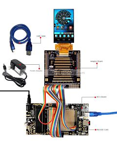 ER-DBT040-1_MCU 8051 Microcontroller Development Board&Kit for ER-TFT040-1