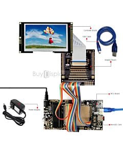 ER-DBT043-7_MCU 8051 Microcontroller Development Board&Kit for ER-TFT043-7