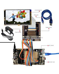 ER-DBT050-2_MCU 8051 Microcontroller Development Board&Kit for ER-TFT050-2 and its touch panel.