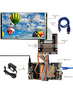 ER-DBT090-1_MCU 8051 Microcontroller Development Board&Kit for ER-TFT090-1