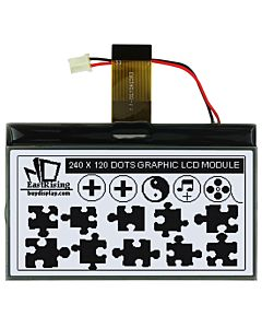 Serial SPI 240x120 Touch Screen Graphic LCD COG Display Connector FPC