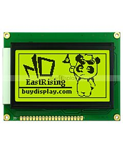 GLCD 128x64 display Graphic LCD Module KS0107,KS0108,Black on YG