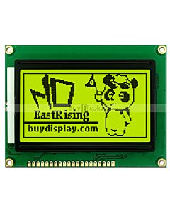 GLCD 128x64 ST7920 Serial Parallel Graphic LCD Module,Black on YG