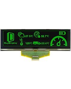 Green 5.5 inch Graphic OLED Display Panel 256x64 SSD1322 Parallel SPI