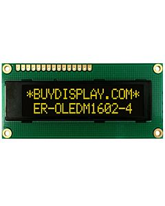 I2C 16x2 OLED Serial Character Display Module Screen,Yellow on Black