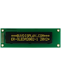 I2C 20x2 OLED Serial Character Display Module Screen,Yellow on Black