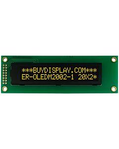I2C 20x2 OLED Serial Character Display Module Screen,Yellow on Black