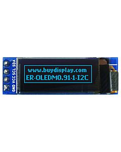 I2C Blue 0.91 inch OLED Display Module 128x32 Arduino,Raspberry Pi
